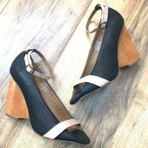 Jeffrey Campbell Monet leather open toe heels, 7